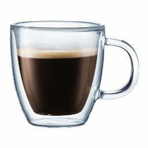 Bodum Bistro Double-Wall Insulated Glass Mug. glass mugs - minimalist, classic and lovely