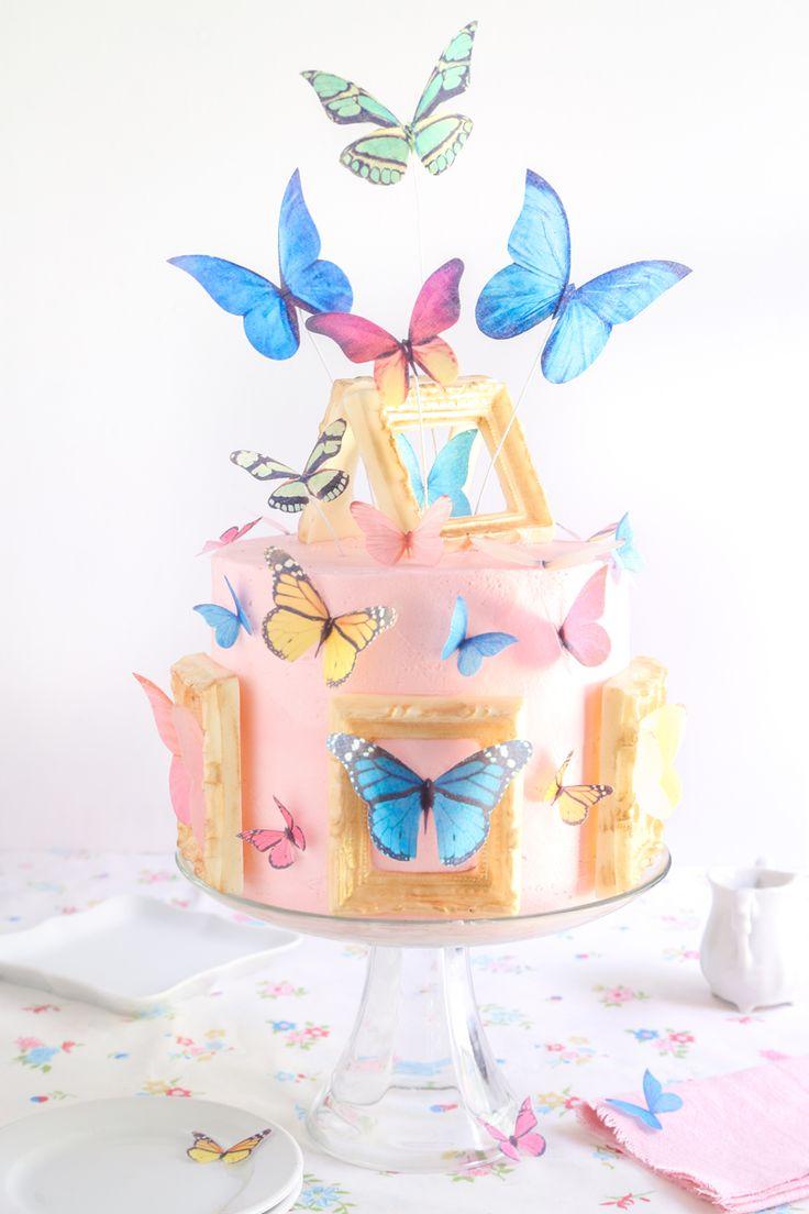 Butterfly Gallery Cake, Pink Lemonade Confetti Cake Recipe