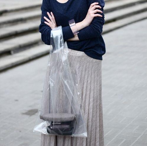 Resultado de imagen de plastic bag street style
