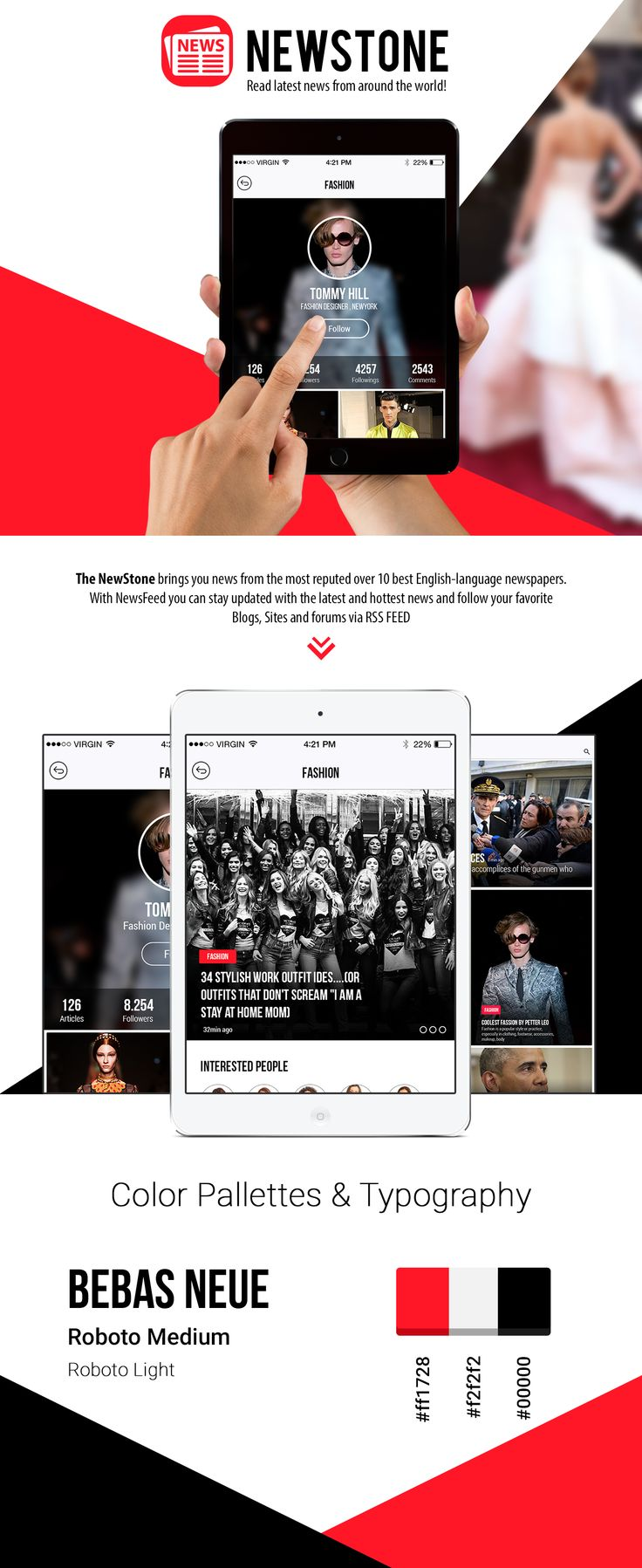 Designed & Developed by AppInventiv, The NewStone brings you news from the most reputed over 10 best English-language newspapers. With NewsFeed you can stay updated with the lastest and hottest news and follow your favorite Blogs, Sites and forums via RSS FEED.