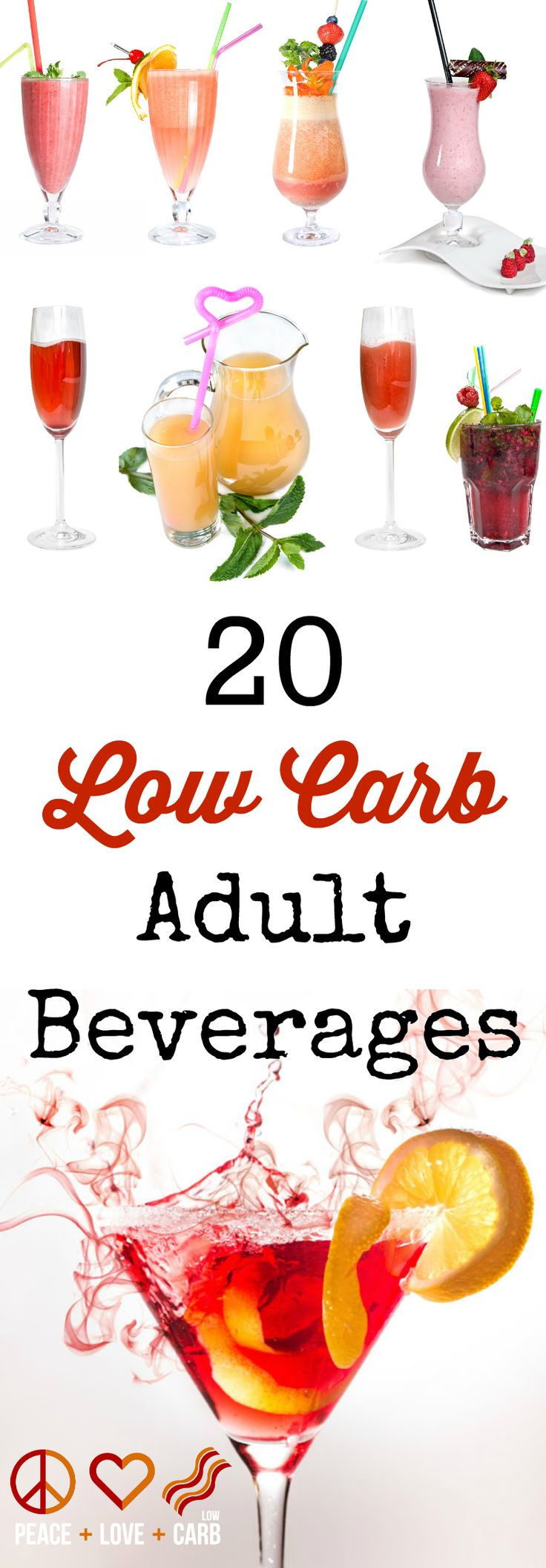 20 Low Carb Adult Beverages | Peace Love and Low Carb