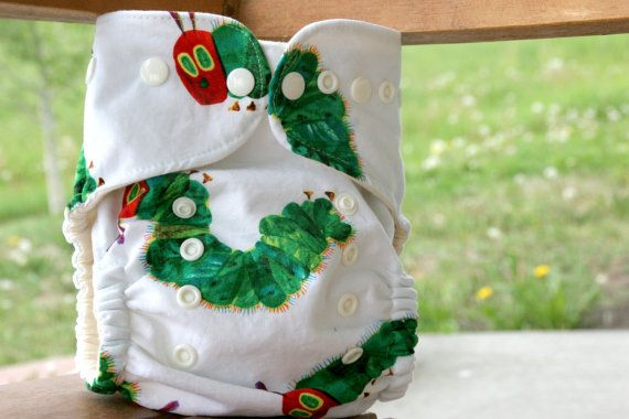 Very Hungry Caterpillar for your Very Cute Baby! Organic Cotton Very Hungry Caterpiller One Size by browncowcotton, $17.95
