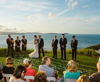 Hamilton Island. Not only is it one of Australia's favourite holiday destinations but they have such a cult destination following that there is a dedicated website just for weddings. When you see the backdrop, its not hard to understand why!