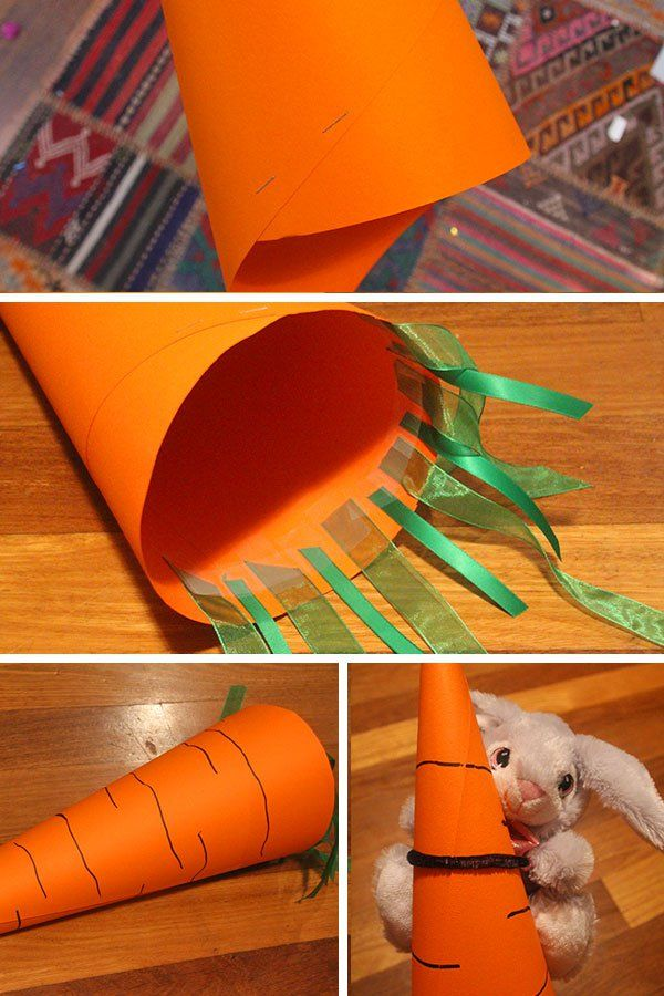 Easter Hat Parade Ideas: Carrot Hat