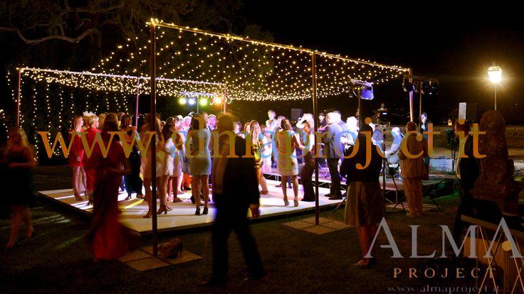 ALMA Project @ Villa di Maiano - Fairy Lights - Dancefloor (White) - Starry ceiling Led Stripes 01