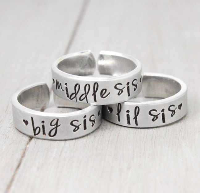Sisters Rings Sisters Jewelry Big Sister Ring by PureImpressions, $39.00