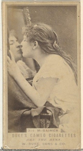 Card Number 314, M. Baimer, from the Actors and Actresses series (N145-5), 1880s. The Metropolitan Museum of Art, New York. The Jefferson R. Burdick Collection, Gift of Jefferson R. Burdick (Burdick 208, N145-5.84)