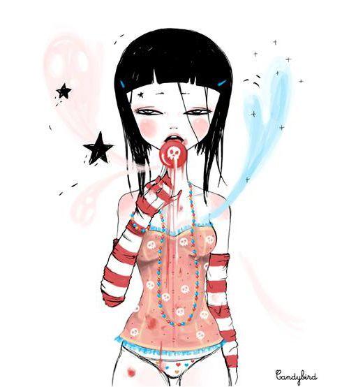 candy bird - sweet illustration