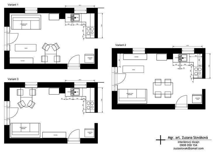 Návrh interiéru  víkendovej chaty 08- Apríl 2015 spoločenská časť- plocha 20,21 m²