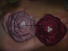 Blog do passo a passo: flor de cetim com pétalas queimadas na vela