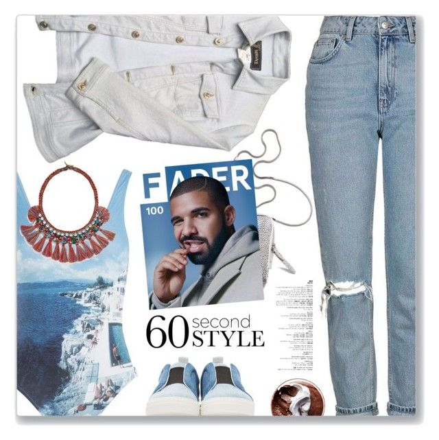 """One Dance, Drake"" by blendasantos ❤ liked on Polyvore featuring Topshop, 3.1 Phillip Lim, Orlebar Brown, Pierre Hardy, Versace, Tory Burch, DRAKE, views, onepieceswimsuit and 60secondstyle"