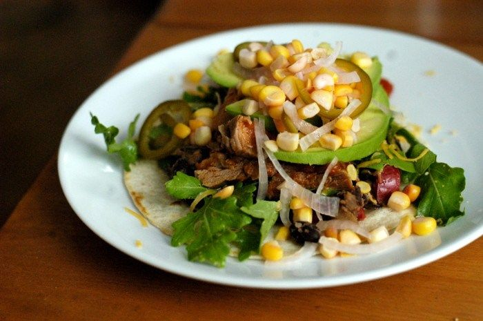 Slow-cooked pork tacos with pickled corn | Beef & Pork | Pinterest