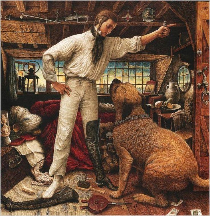 "Hans Christian Andersen's, ""The Tinder-Box"" ~ Ukrainian Fairy Tale Artist-illustrator Vladislav Erko ~ Miks' Pics ""Vladislav Erko"" board @ http://www.pinterest.com/msmgish/vladislav-erko/"