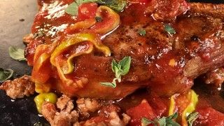 Pork Chops with Sausage and Peppers Recipe | The Chew - ABC.com