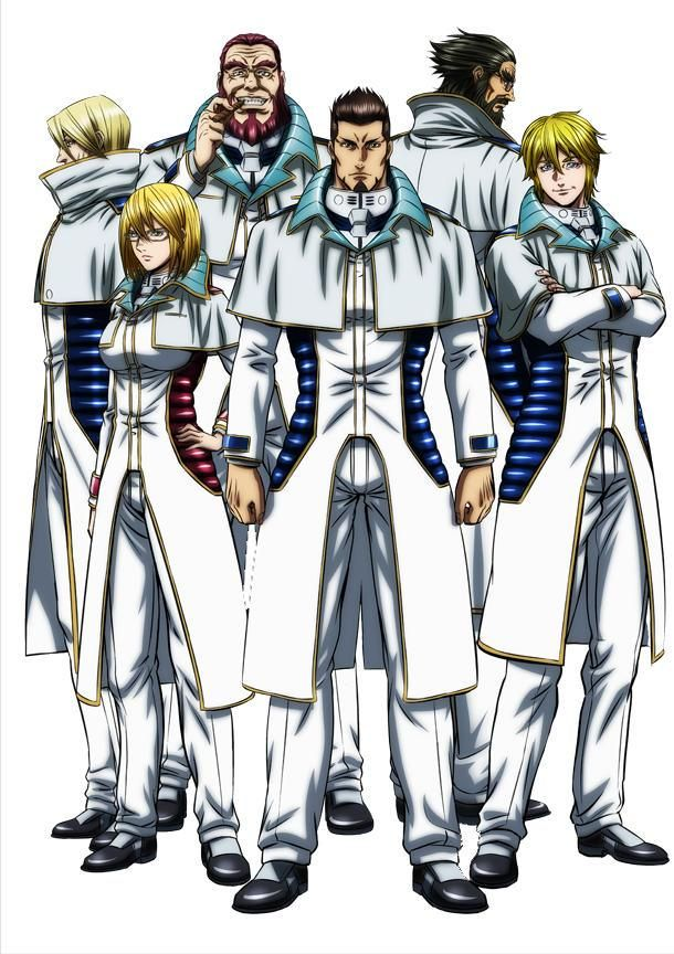 TERRA FORMARS, All the officers of Annex I : Komachi Shokichi, Michelle K.  Davis, Adolf Reinhard, Sylvester Asimov, Liu Yiwu & Joseph Gustav Newton
