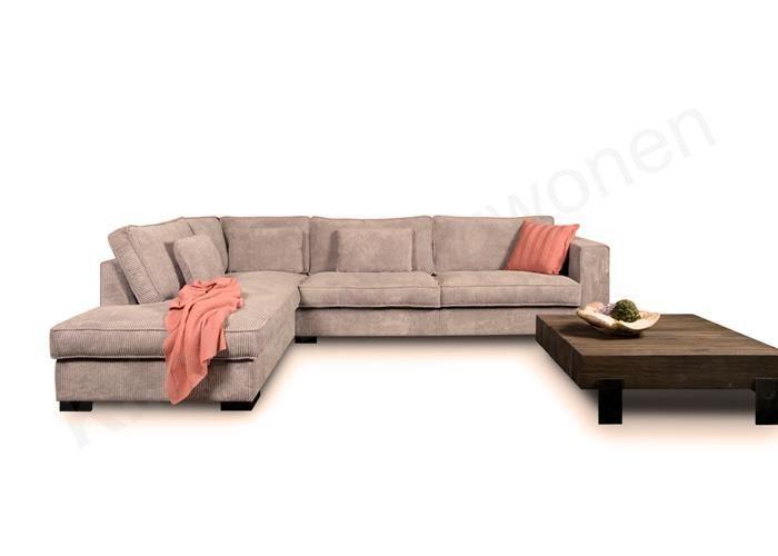 Klinkenberg Wonen 005180 lounge bank ribstof