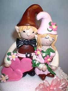 Gnome Wedding Cake Topper Cutest Ever Garden Gnomes