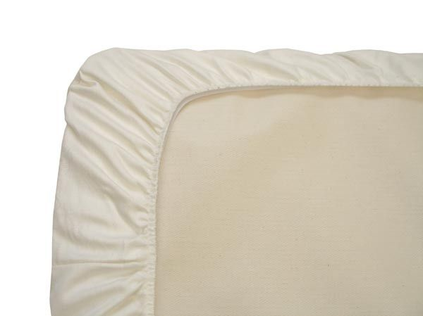 Naturepedic Organic Cotton Fitted Crib Protector Pad - Waterproof