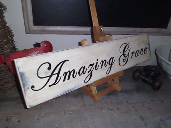 Amazing Grace sign by fullcirclecre8 on Etsy, $22.00