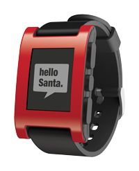 pebble smartwatch.  Control your music, see incoming e-mails, use apps for fitness, etc.  Still can't take calls on it, though.  Still, pretty cool.