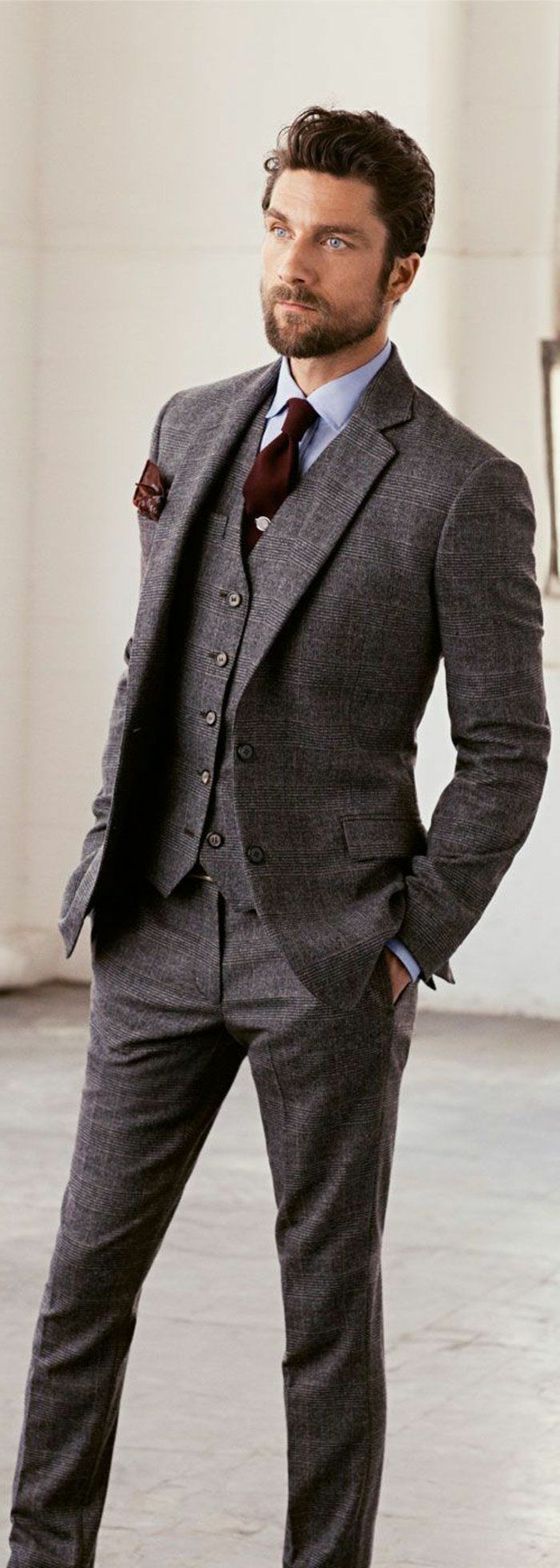 costume gris anthracite pour les hommes modernes et chic - Costume Gris Anthracite Mariage