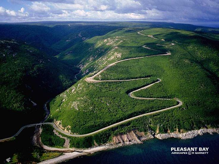 The Cabot Trail passing through the Highlands National Park in Cape Breton, Nova Scotia