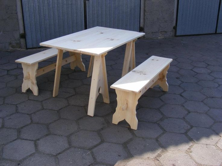 Break down table and benches