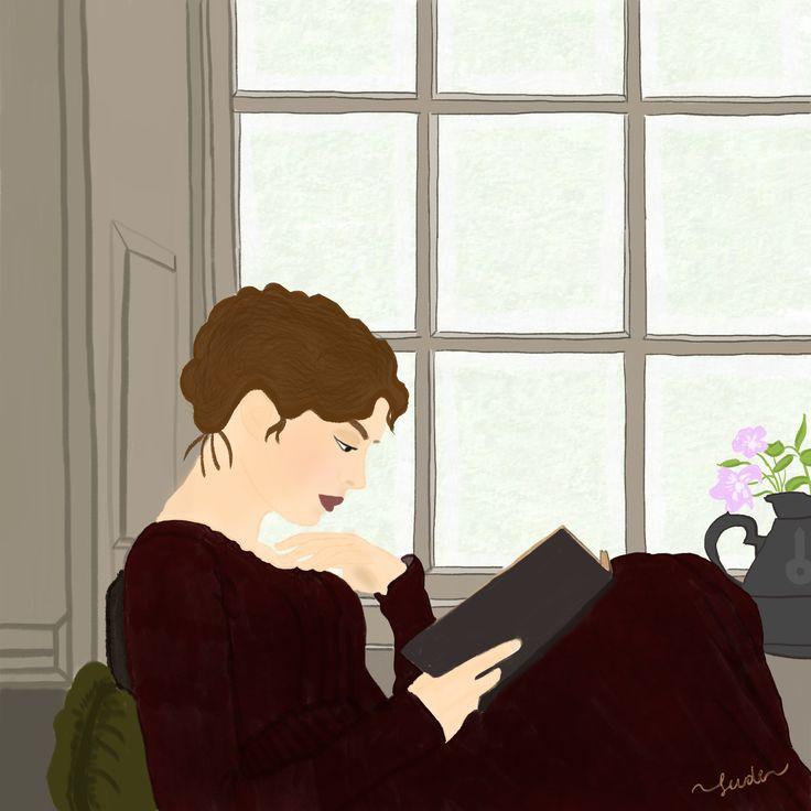 Jane Austen #jane #austen #book #writer #illustration #illüstrasyon #art #draw #drawing #by #sevdeturan #sevde #sanat #çizim #illustrator