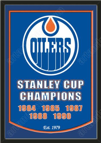 Dynasty Banner Of Edmonton Oilers With Team Color Double Matting-Framed Awesome & Beautiful-Must For A Championship Team Fan! Most NHL Team Dynasty Banners Available-Plz Go Through Description & Mention In Gift Message If Need A different Team Art and More, Davenport, IA http://www.amazon.com/dp/B00FC6W73K/ref=cm_sw_r_pi_dp_-7oJub0YA08P3