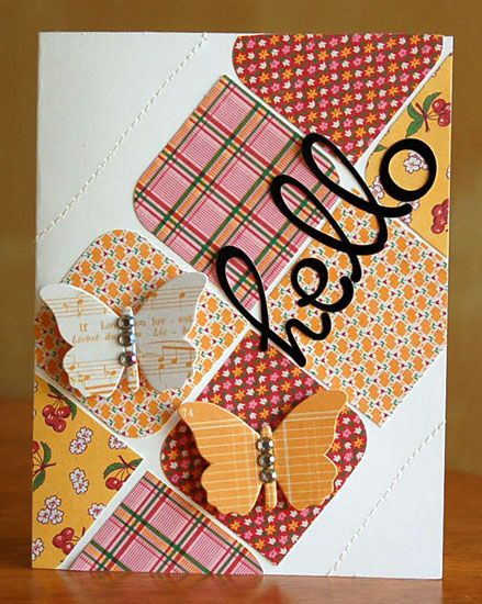 """Might be fun to try with CTMH B and Cricut word.       Love how the """"blocks"""" have been used in this card"""