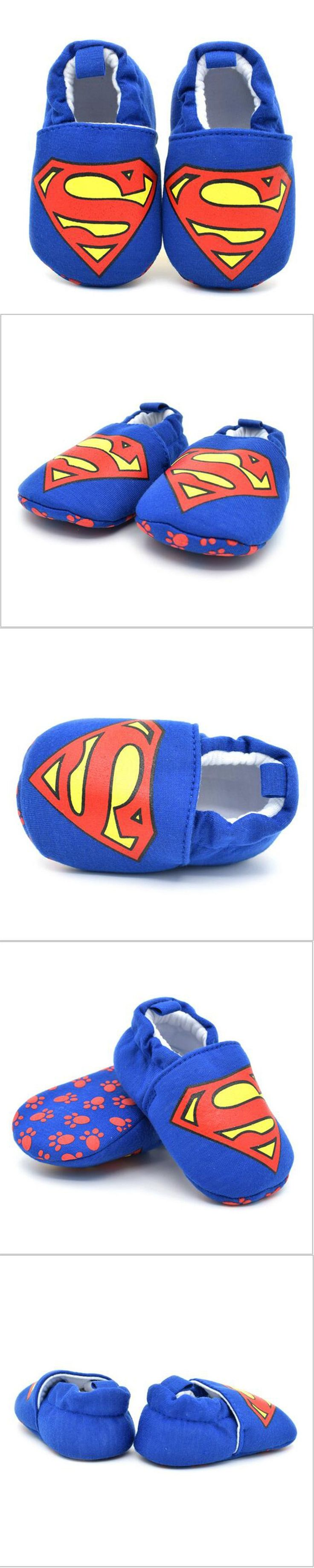 Baby shoes for boys girls hot blue Superman baby cotton toddler shoes bebe baby kids children first walker casual winter warmer $8.99