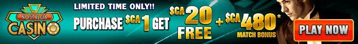 Nostalgia Casino Limited Time Offer