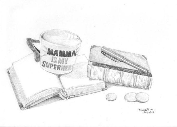 "drawing ""mamma is my superhero"""
