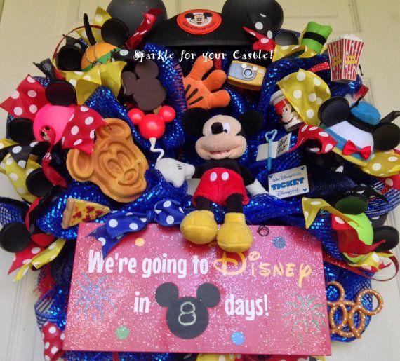 Disney Wreath Countdown to Disney Vacation by SparkleForYourCastle