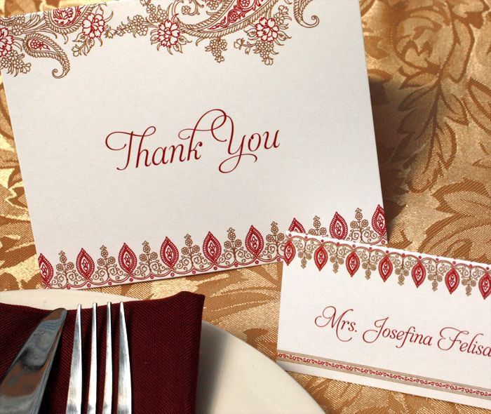 26 best reception thank you cards images – Traditional Indian Wedding Invitations