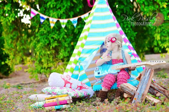CHIC Tee Pee - The Posh Play Tent - Custom design yours from our fabulous selection of funky STRIPES, ZEBRA, and more. $99.99, via Etsy.