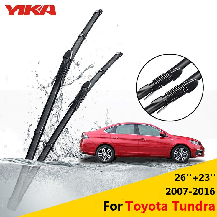 "YIKA Car Windshield Rubber Wiper Blades For Toyota Tundra 26""+23"" Fit Pinch Tab Arms 2005 2006 2007 2008 2009 2010 2011 2012 #Affiliate"