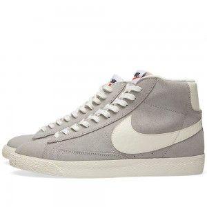Vendita Ingrosso Scarpe Nike Blazer Mid PRM VNTG Donne Lupo Grigie Vela amp Nero Offerte Online