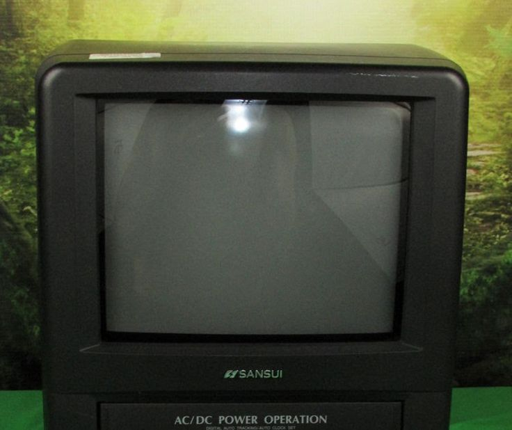 """Sansui 9"""" COM0961B CRT TV w/ Built-in VCR VHS Tape Player Recorder Combo Remote"""