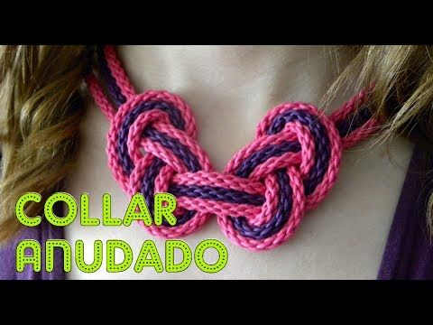 ▶ DIY: COMO HACER UN COLLAR DE NUDOS VERANIEGO - YouTube