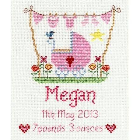 image of New Baby Girl Cross Stitch Kit