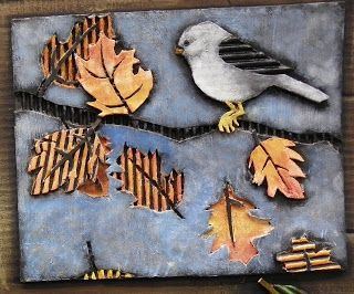 Lees Design One Class: Student Samples of Cardboard Relief Tiles