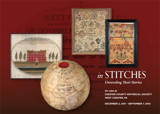 In Stitches: Unraveling Their Stories  runs through September 7, 2012 at Chester County Historical Society