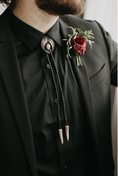 Bolo tie for groom