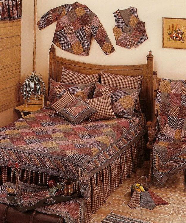 Image Detail for - Harvest Log Cabin Patchwork Quilt - PATCHWORK QUILTS