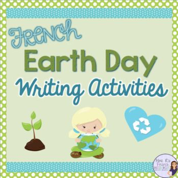 Newly revised!  This fun Earth Day writing activity is a great way to celebrate the holiday while encouraging students to write reflectively using the futur simple, le subjonctif, and more.Includes:Writing activity using the future tenseWriting activity using the subjunctiveWriting activity - How I reduce, reuse, recycleWord scramble + keyPrintable vocabulary of environmental terms (in English and French)Teaching ideas using popular songs and video ideas + link to listening comprehension…