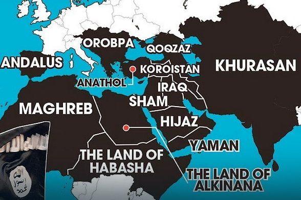 ISIS zaprezentowało mapę swojego imperium. W tych krajach chce przejąć władzę do 2020 roku