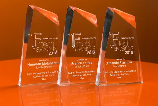 LendingPoint wins three 2018 Fintech Awards Three members of the LendingPoint team were named winners of Finance Monthly's 2018 Fintech Awards.  Congratulations to our winners Franck Fatras, Cyber Security Innovation of the Year USA, Amanda Flashner, Customer Experience Innovation Advisor of the Year USA and Houman Motaharian, Risk Management Innovation Advisor of the Year USA.