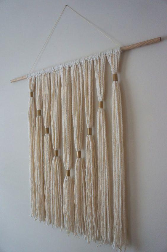 208 besten diy textil bilder auf pinterest basteln mit wolle bastelarbeiten und garn. Black Bedroom Furniture Sets. Home Design Ideas