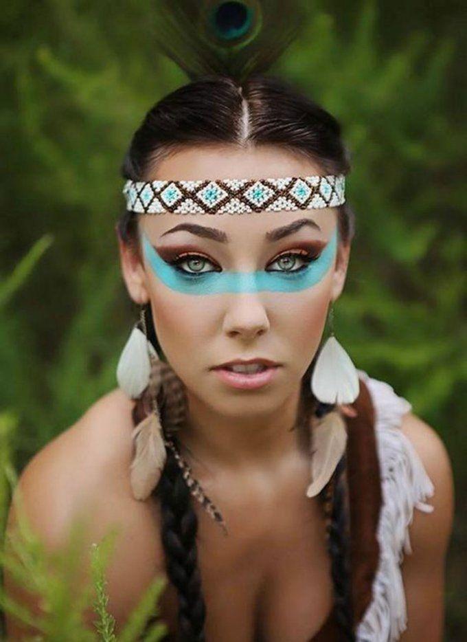 maquillage halloween indienne